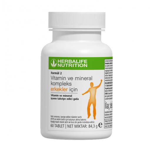 Herbalife Formül 2 Vitamin ve Mineral Kompleks Erkekler İçin 60 Tablet