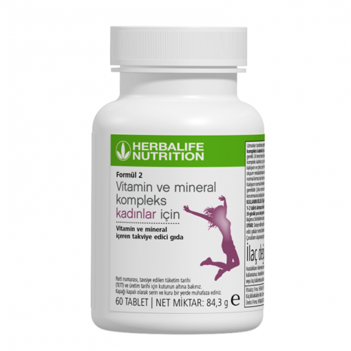 Herbalife Formül 2 Vitamin ve Mineral Kompleks Kadınlar İçin 60 tablet
